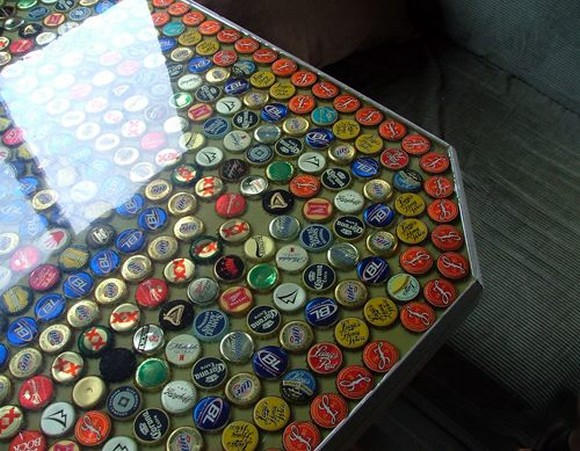 bottle caps table top