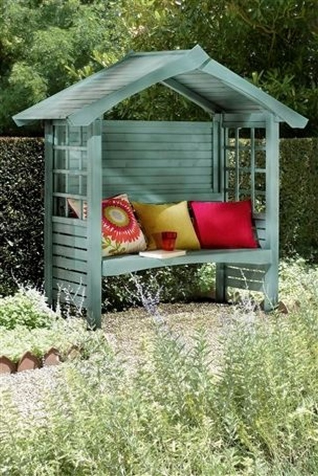 garden gazebo bench with pallets