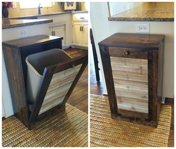 kitchen waste basket with pallets