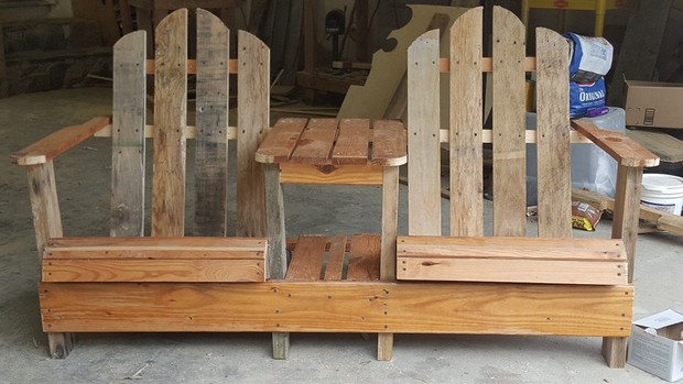 pallet double chair