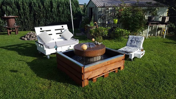pallet patio garden seating