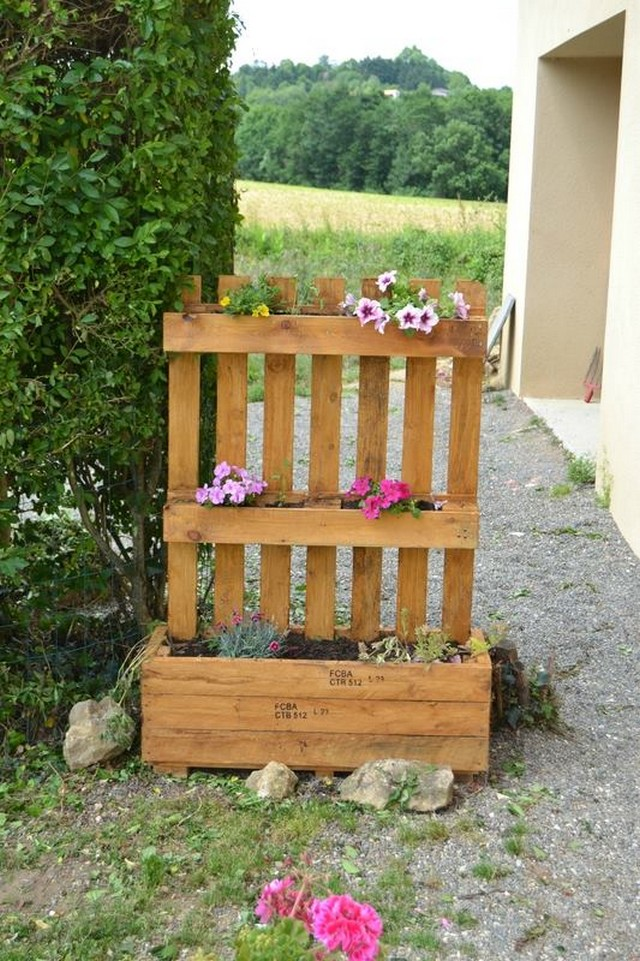 pallet patio planter