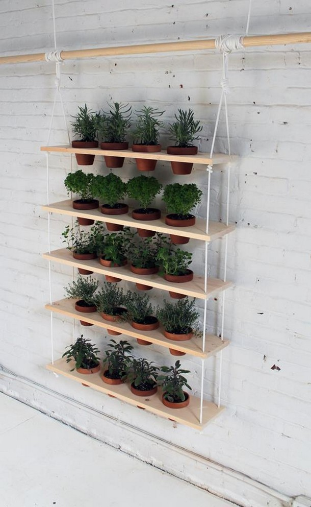 pallet wood hanging planter