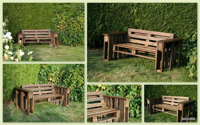 patio bench out of pallets wood