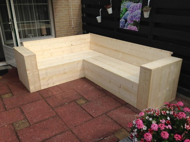 patio pallet corner couch