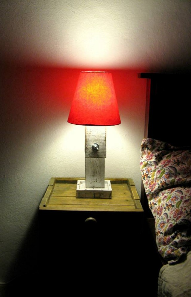 reclaimed pallet lamp ideas