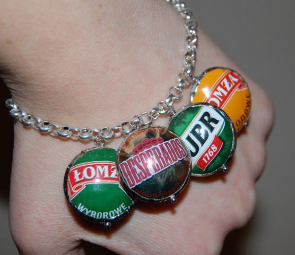 recycled bottle caps bracelet