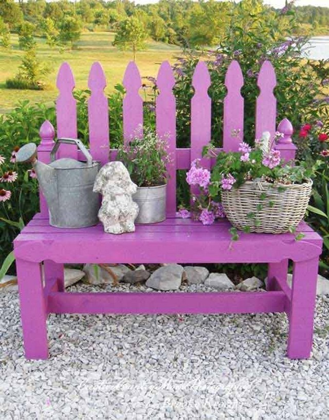 repurposed pallet planter bench