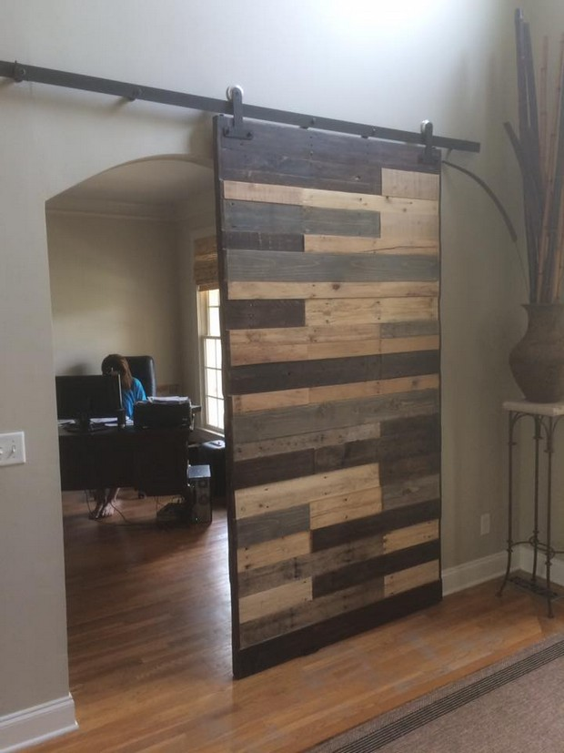 wooden pallet door