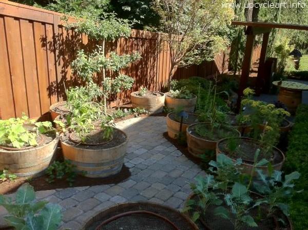 Old Barrel For Garden Decor