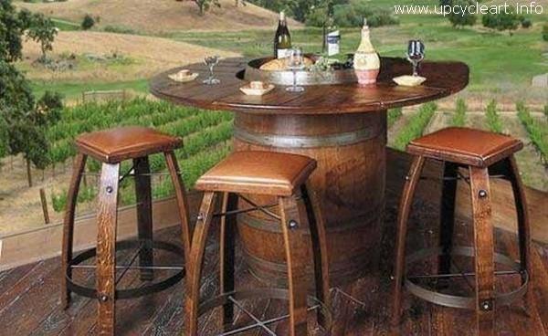 Old Barrel Furniture Idea