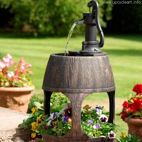 Old Barrel Garden Art