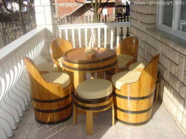 Old Barrel Patio Furniture