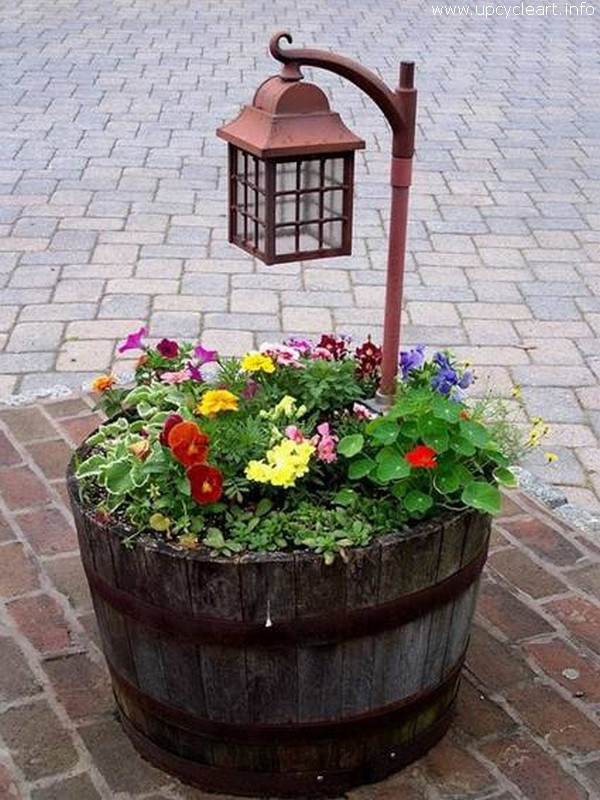 Old Barrel Recycled Planter