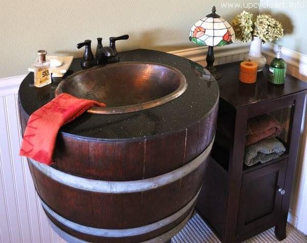 Old Barrel Rustic Sink