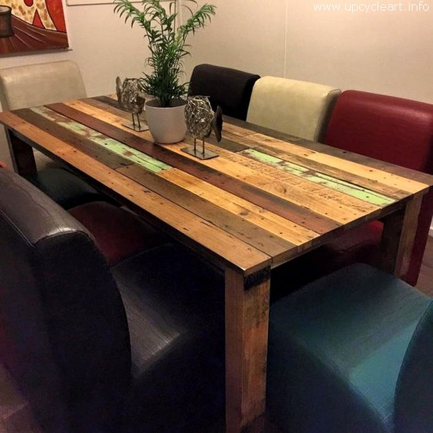 50 diy pallet ideas upcycle art for Cute kitchen tables