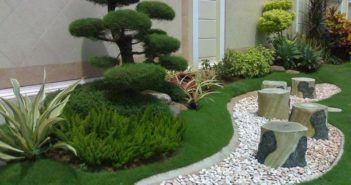 decor your garden with pebbles