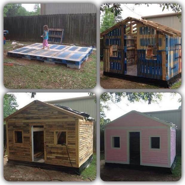 diy pallet cabin for kids