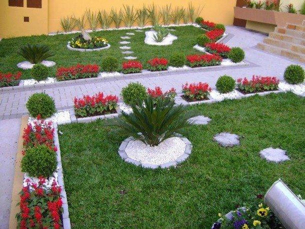 garden decor ideas with pebbles