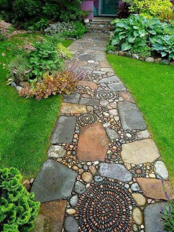 garden pathway decor plan