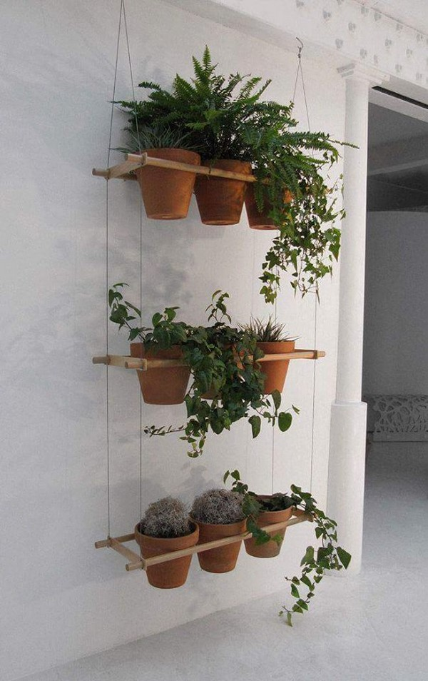 knickknack ideas for hanging plants upcycle art. Black Bedroom Furniture Sets. Home Design Ideas