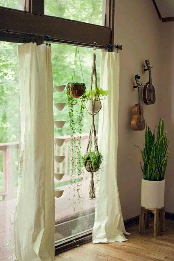 hanging plants with decor