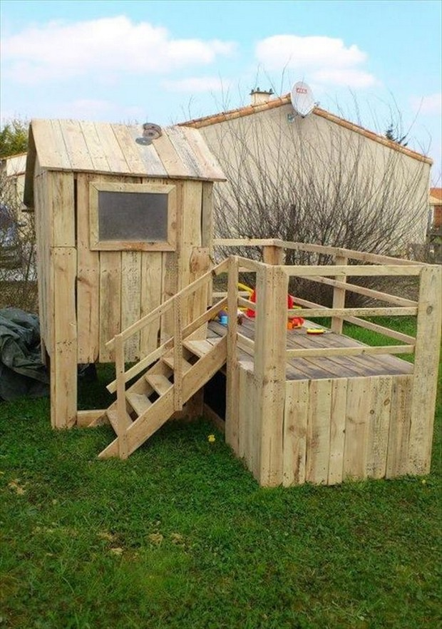 kids fun with pallets wood
