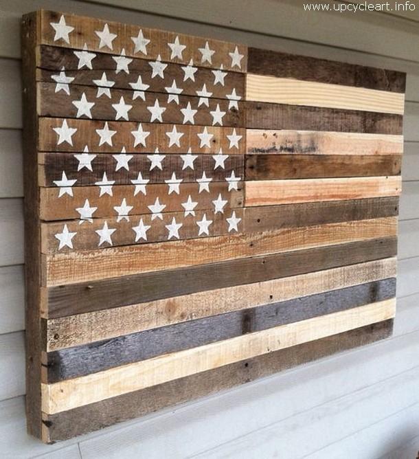 pallet american flag art