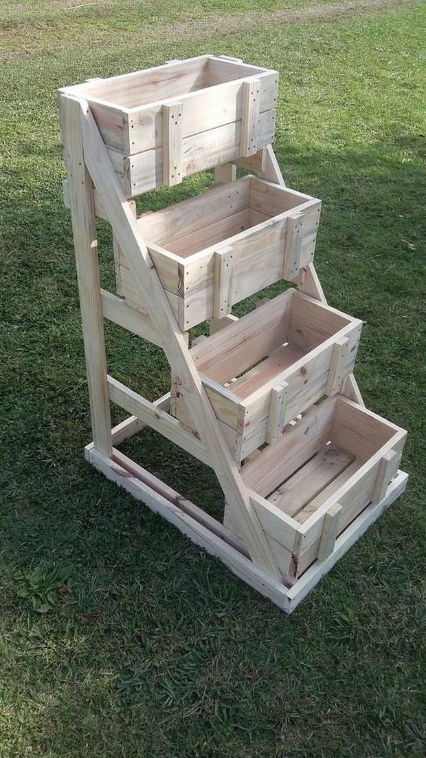 pallet crates planter