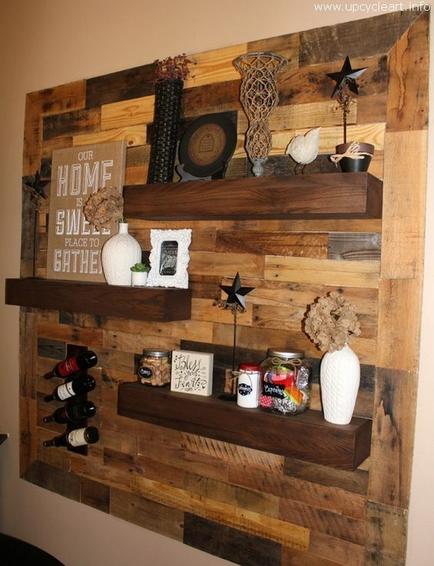 pallet decor shelf