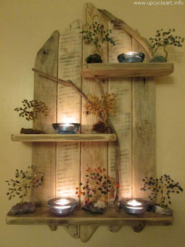 pallet decor shelves
