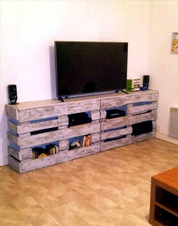 pallet entertainment cabinet