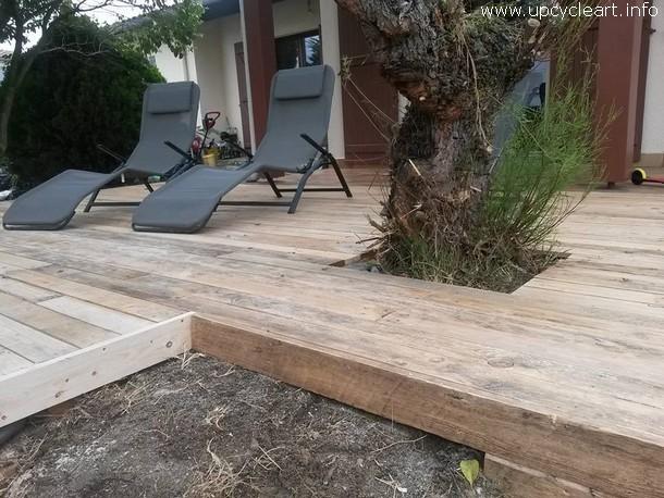 pallet garden floor