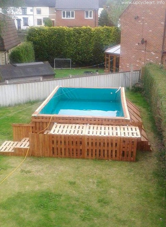 pallet made pool