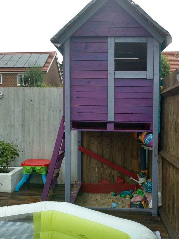 pallet shed for kids