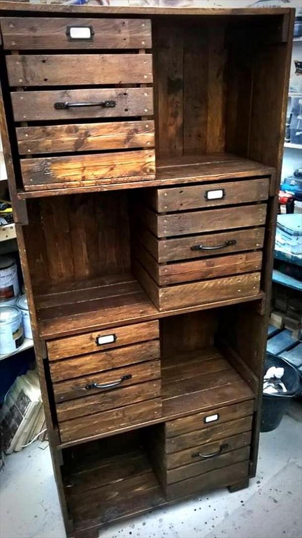 pallet storage cabinet
