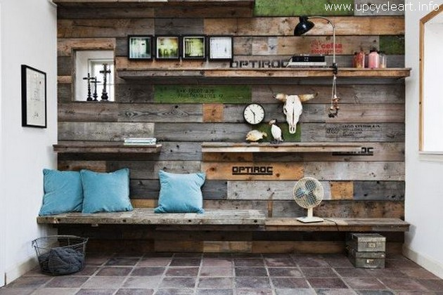 pallet wall decor plan