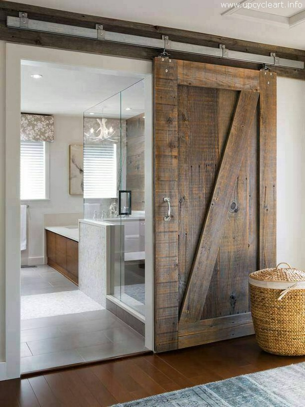 rustic sliding door idea