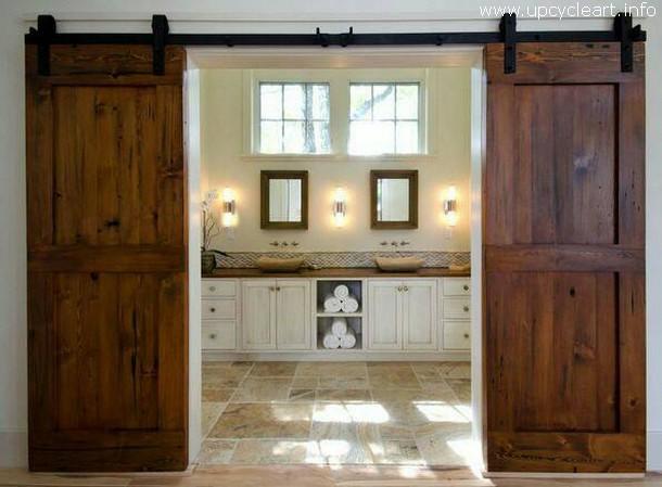 spaces behind rustic doors