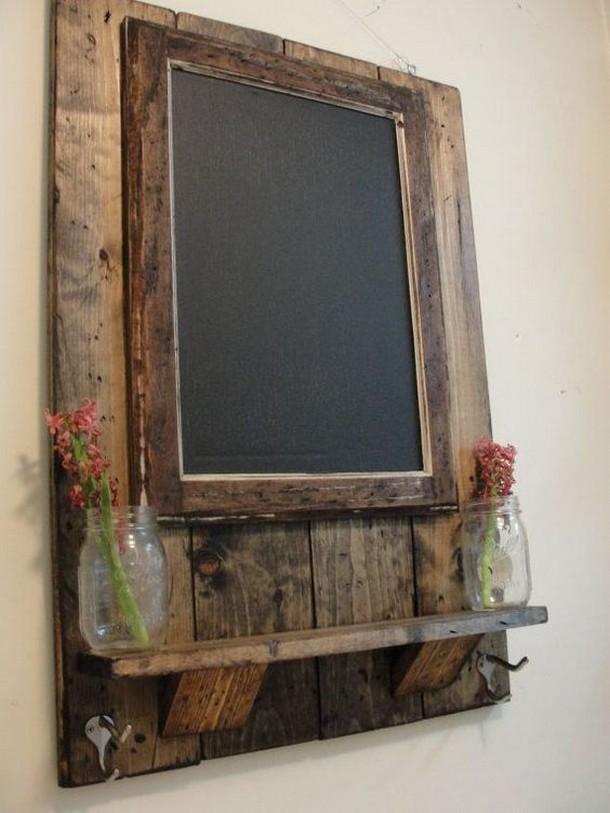 vintage pallet mirror