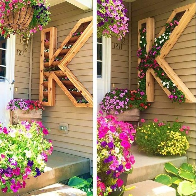wood pallet decor planter idea
