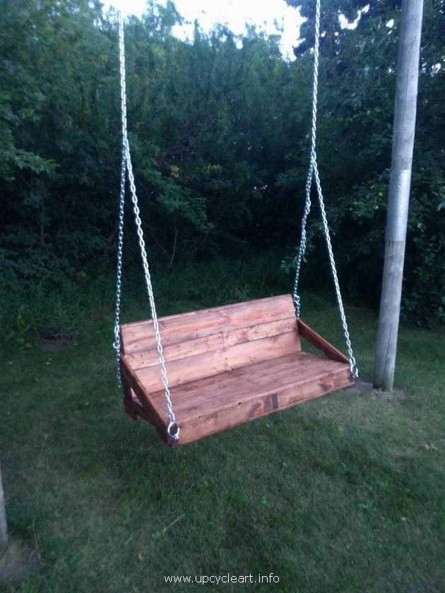 wood pallet swing