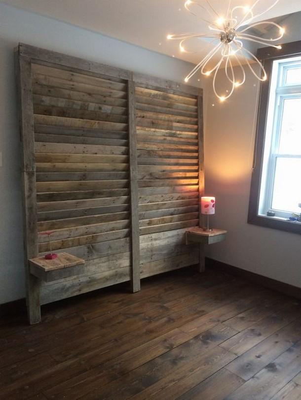 wooden pallet bed headboard