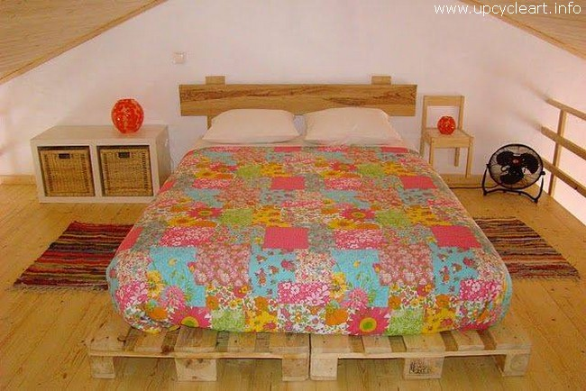 wooden pallet bed idea