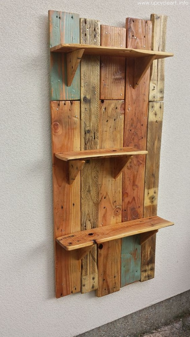 Rustic Pallet Shelf Outdoor Pallet Bar And Things