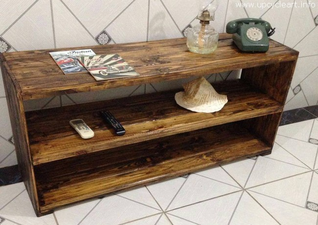 wooden pallet side table bench