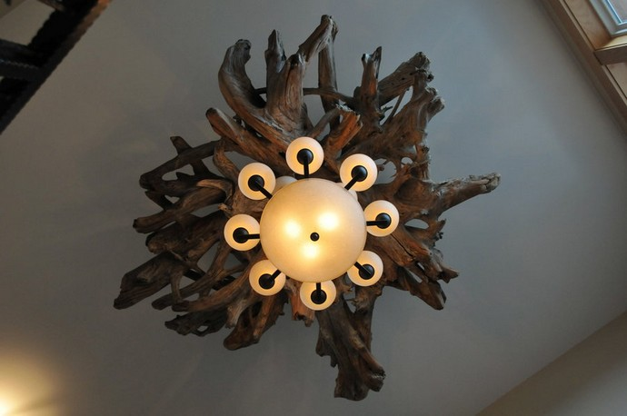 Beauty of driftwood chandelier