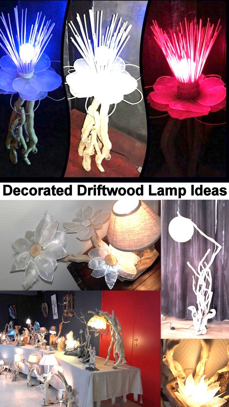 Decorated Driftwood Lamp Ideas