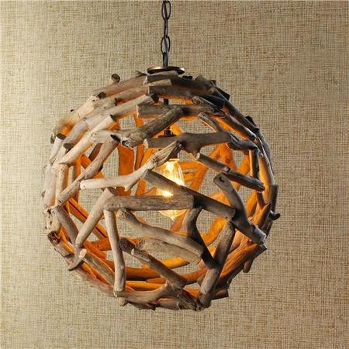 Driftwood Ball Pendand