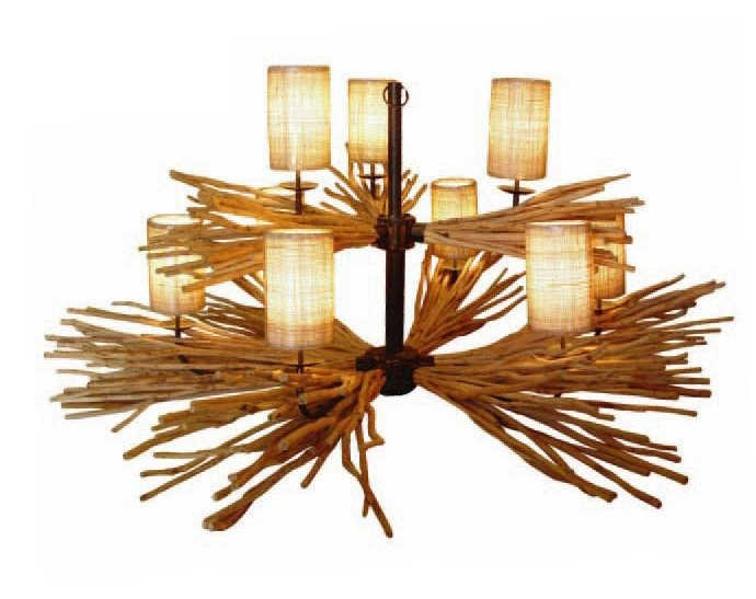 Driftwood Chandelier 9 Lights